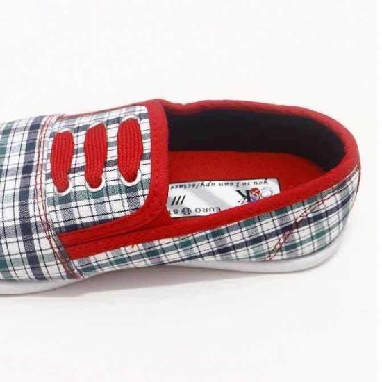 giày Anh Khoa-AK16-kẻ dây đỏ-