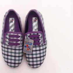 giày Anh Khoa-AK16-kẻ dây tím