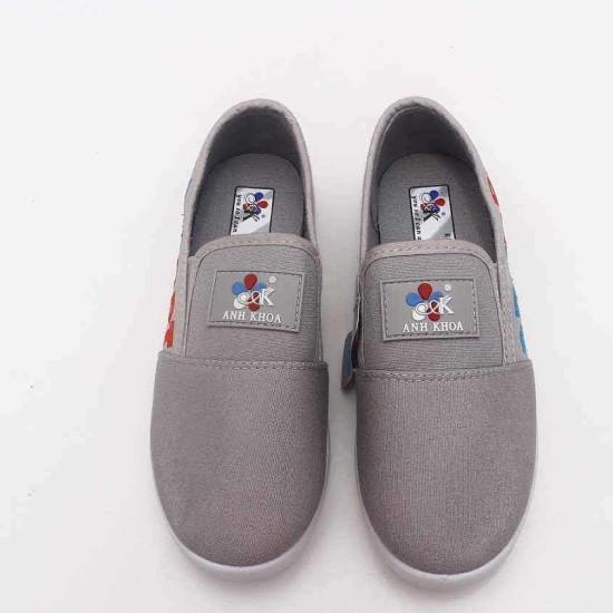 giày Anh Khoa-AK17-ghi thêu-