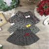 Chân váy hoa  thô kèm quần cotton bên trong size từ 3-10