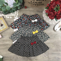 Chân váy hoa kèm quần cotton cho bé size từ 3-10