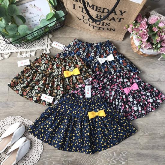 Chân váy hoa kèm quần cotton cho bé size từ 3-10-