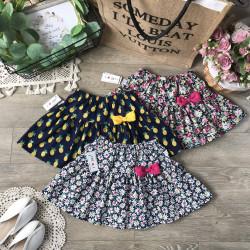 Chân váy hoa thô kèm quần cotton cho bé size từ 3-10