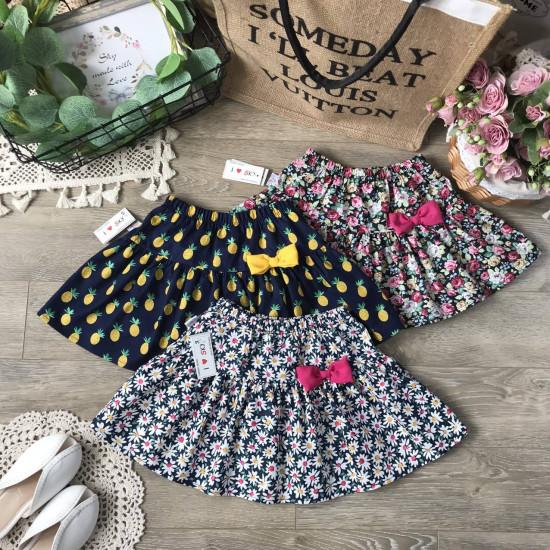 Chân váy hoa kèm quần cho bé size từ 3-10-