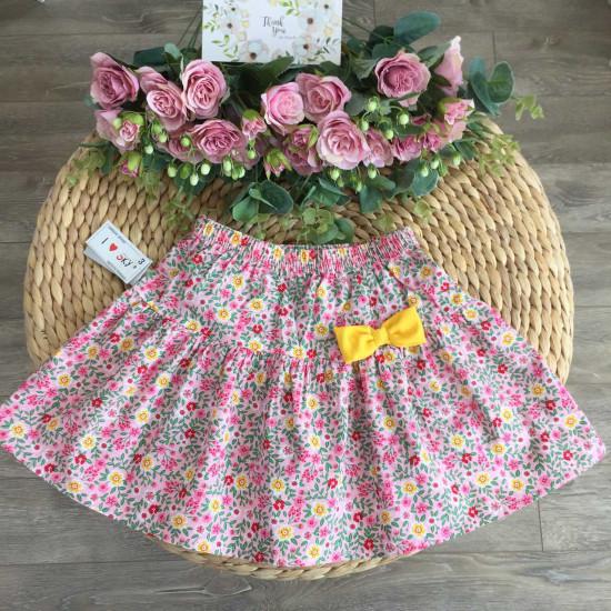 chân váy hoa thô xuân hè bé gái size 3- 10-CHÂN  VÁY XUÂN HÈ SIZE BÉ - TRUNG
