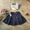 Chân váy kẻ học sinh xếp ly kèm quần cotton bên trong size 7-15