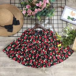 Chân váy hoa thô kèm quần xuân hè size đại S-XL