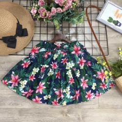 Chân váy hoa thô size đại kèm quần cho bé gái size S-XL