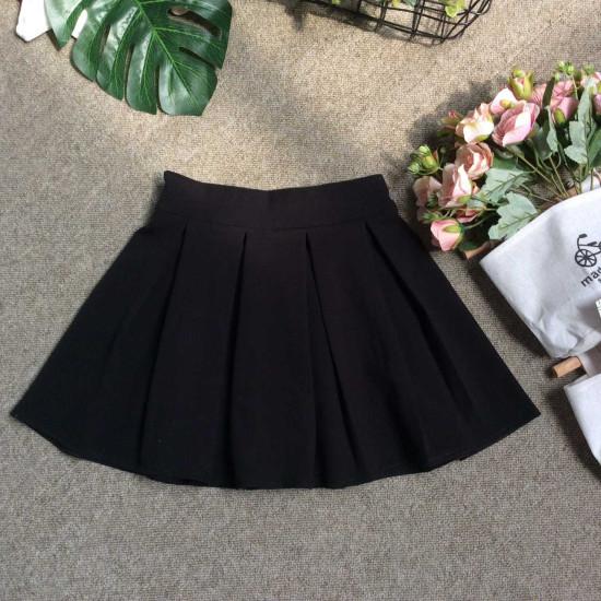 Chân váy xếp ly đen-