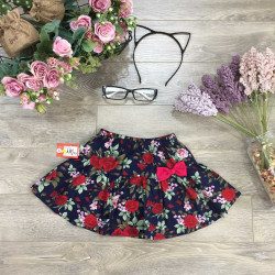 Chân váy hoa kèm quần quần cotton xuân hè cho bé gái size 6-10