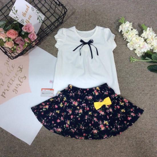 Chân váy hoa thô kèm quần