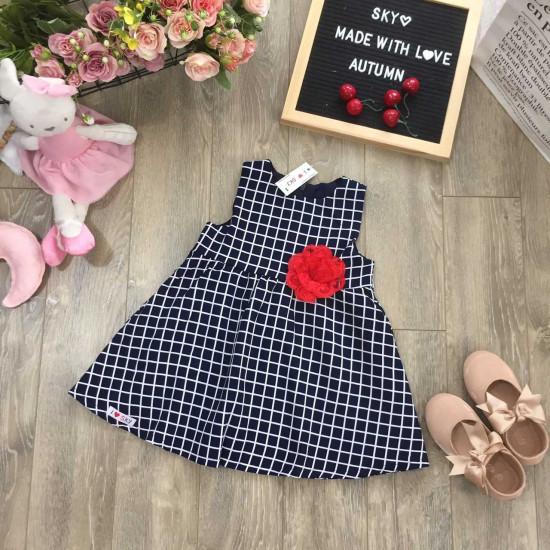 Váy kẻ 2 lớp-v101535