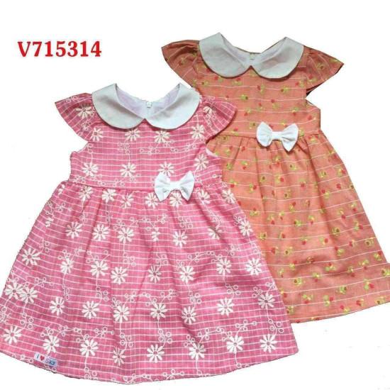 váy thu tay hến cổ sen-V715314-VÁY THU ĐÔNG BÉ GÁI