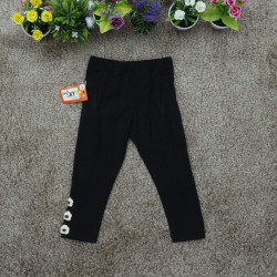 Legging cotton thu bé gái - tím than