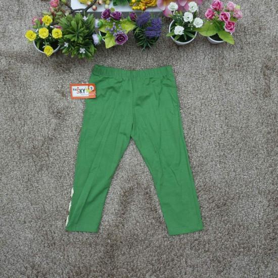 Legging cotton thu đông xanh lá-LEGGING THU ĐÔNG BÉ