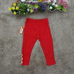 Quần legging thu bé gái - đỏ