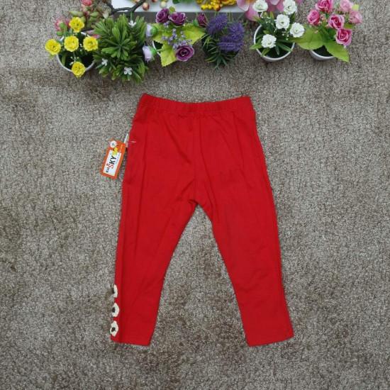 Quần legging thu bé gái - đỏ-LEGGING THU ĐÔNG BÉ
