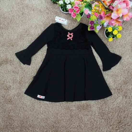 váy thu ren ngực-V10655