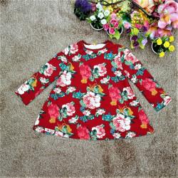 Áo váy hoa dài tay-AV101515