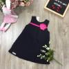 váy dáng A bông trần hoa lụa-