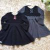 váy thu ren ngực-V10655-