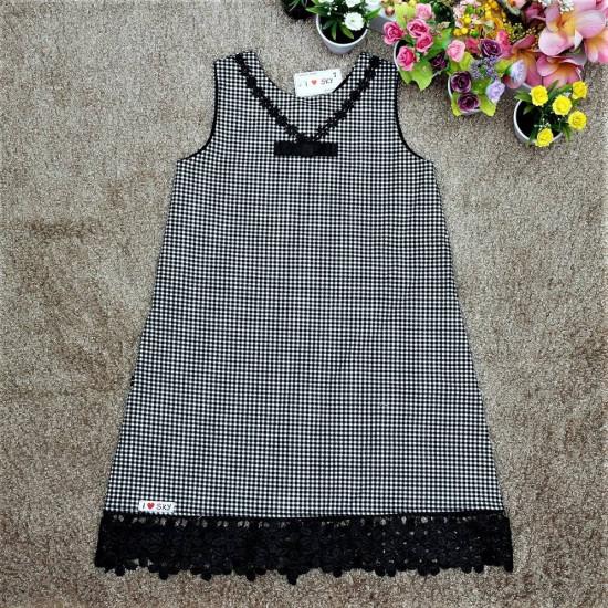 Váy A kẻ ren gấu - V126244-VÁY THU ĐÔNG BÉ GÁI