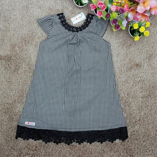 Váy A ren vòng cổ- V126275-VÁY THU ĐÔNG BÉ GÁI