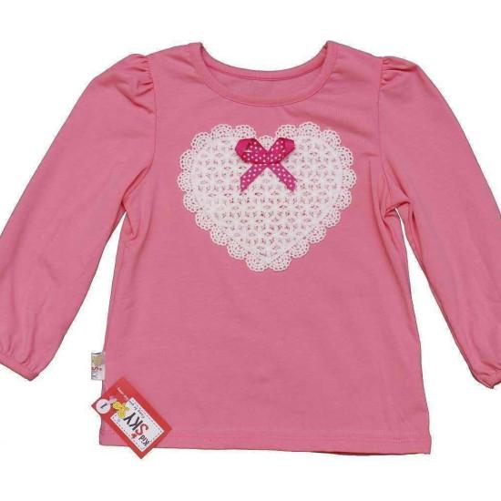 áo thu cổ tròn bé gái-A815225-