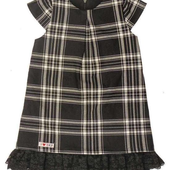váy dạ kẻ chun-V115255-