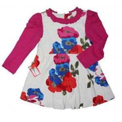 váy nhung hoa hồng-V7115