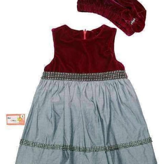 Váy nhung mũ-V29115-