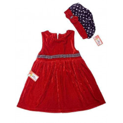 Váy nhung mũ-V29115