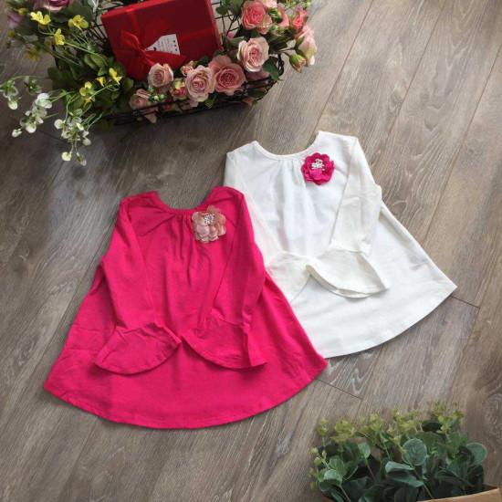 bán sỉ áo cotton xòe tay loe-A86125 - đại lý phân phối hãng KIDSKY