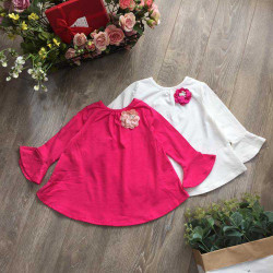 áo cotton xòe tay loe-A86125