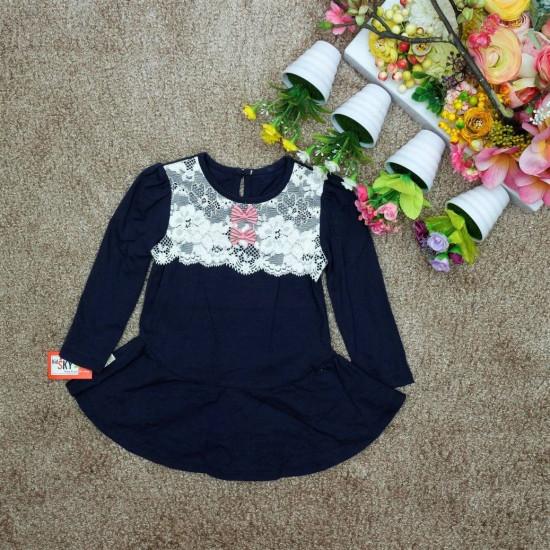 áo váy đuôi cá ren nơ ngực-AV86115-VÁY THU ĐÔNG BÉ GÁI