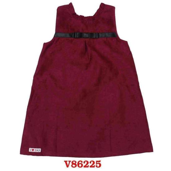 váy nhung tăm dáng A-V86225-