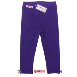 Quần legging gập gấu bé gái- Q86295