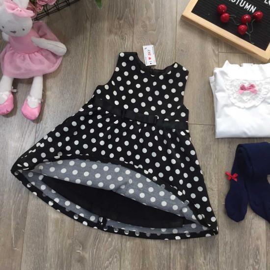 bán sỉ váy gto chấm bi 2 lớp-V915125 - đại lý phân phối hãng KIDSKY