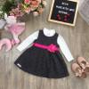 váy nỉ ghép hoa lụa-V96255-