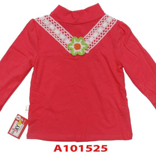 Áo cổ lọ hoa len-A101525-