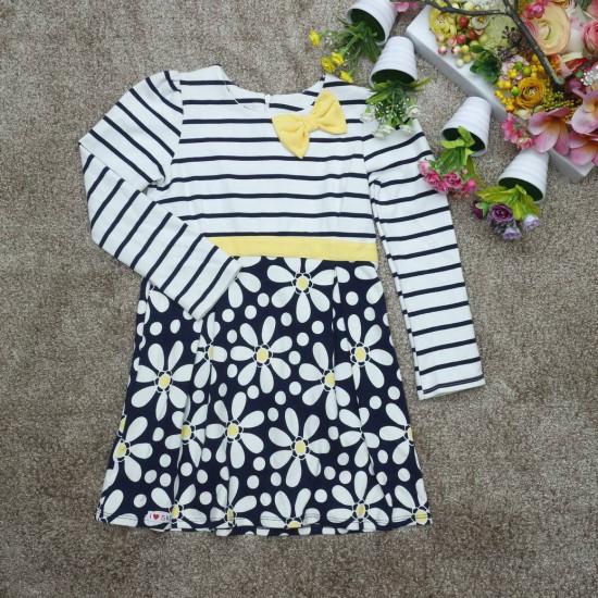 váy kẻ chân hoa-V12355