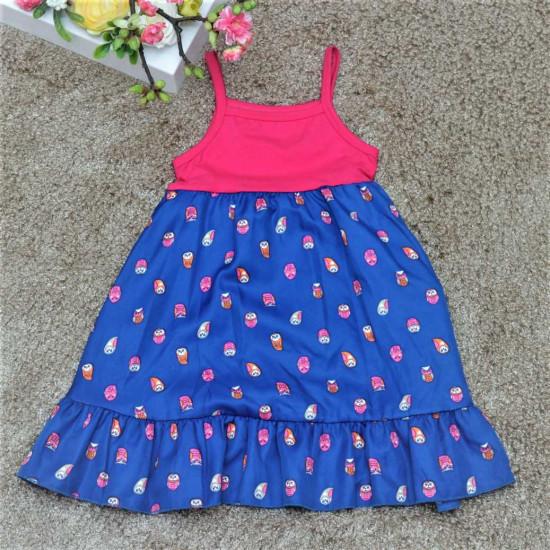 váy 2 dây chấm bé gái- V926