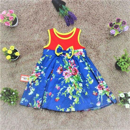 váy cotton chân thô hoa - V315235