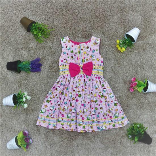 Váy SN hoa cotton bé gái -V2248