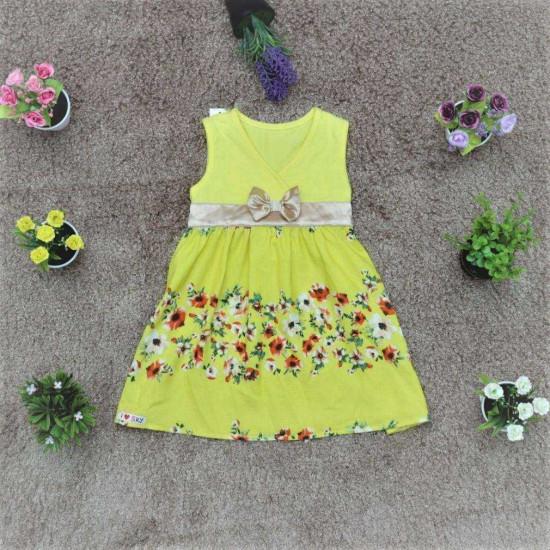 váy vạt chéo chân hoa- V51575
