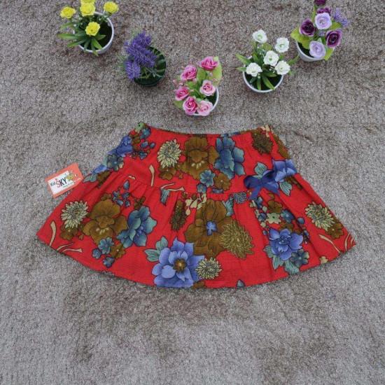 chân váy đũi hoa size đại -CV2455Đ-