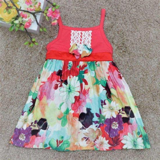 váy 2 dây lanh bé gái- V2455