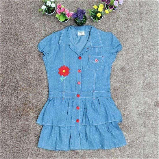 váy bò size đại bé gái- V3135A-XẢ HÀNG HÈ ĐỒNG GIÁ 35K