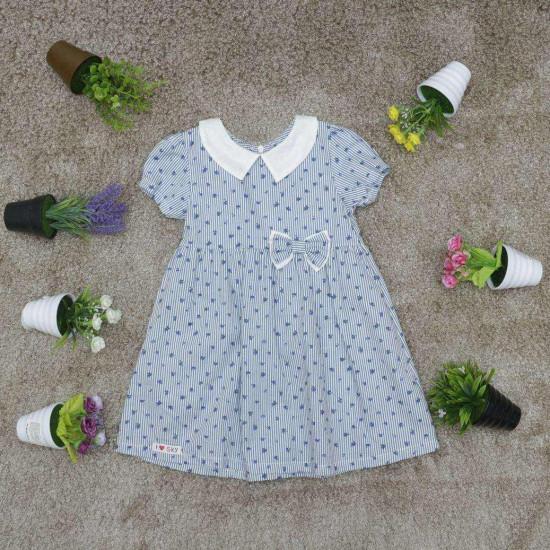 Váy hoa cổ sen bé gái- V26154
