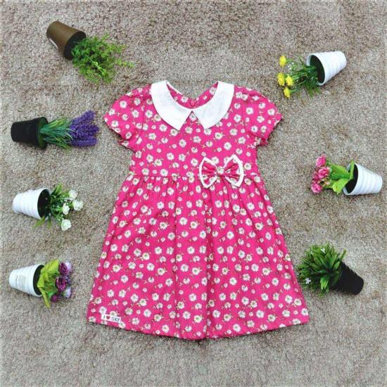 Váy hoa cổ sen bé gái- V26154-VÁY XUÂN HÈ BÉ GÁI